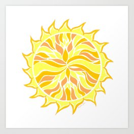 Sol Flow :: Color Therapy Collection :: Art Print