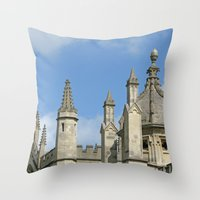 spires Throw Pillows featuring Spires of All Souls by Ann Horn