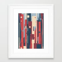 metropolis Framed Art Prints featuring Metropolis by Tracie Andrews