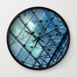 Glass Ceiling VI (Landscape) - Architectural Photography Wall Clock