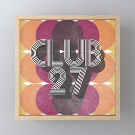 Club 27 – Retro Framed Mini Art Print