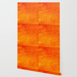Orange Sunset Textured Acrylic Painting Wallpaper