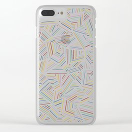 Abstraction Linear Rainbow Clear iPhone Case