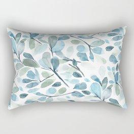 Painted Watercolor Leaves Rectangular Pillow