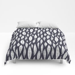 Quail Feathers (Midnight) Comforters