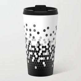 Flat Tech Camouflage White and Black Travel Mug