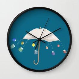 The Umbrella Books Wall Clock