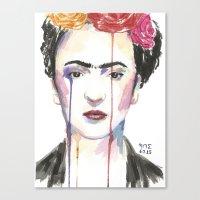 frida Canvas Prints featuring Frida by SirScm