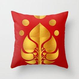 Bodhi Tree0301_GoldenDAY Throw Pillow