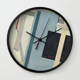lazar lissitzky proun 4 b Abstract art painting Wall Clock
