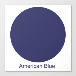 American Blue Canvas Print