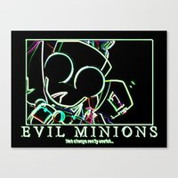 invader zim Canvas Prints featuring invader zim gir by jjb505