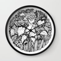 sunflowers Wall Clocks featuring Sunflowers by Natalie Berman
