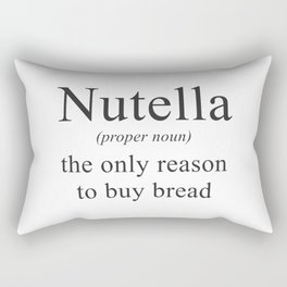 NUTELLA - CHOCOLATE - DEFINITION - FUNNY Rectangular Pillow