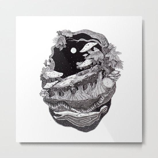 black nature Metal Print