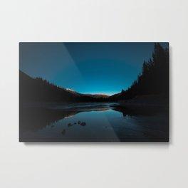 Winter Sunset Metal Print