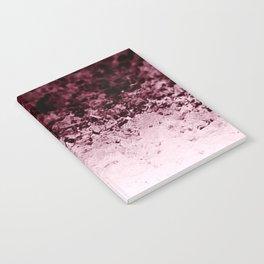 Burgundy CrYSTALS Ombre Gradient Notebook