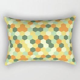 Hexagonal geometric pattern Rectangular Pillow