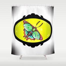 Jewel Moth Shower Curtain