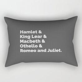 The Shakespeare Plays I Rectangular Pillow