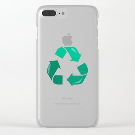 Recycling Symbol Earth Day design Clear iPhone Case