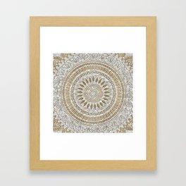 Elegant hand drawn tribal mandala design Framed Art Print
