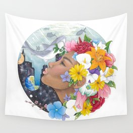 Beauty in Abstract-Realism Wall Tapestry