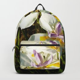 African White Iris DPGP160719a Backpack