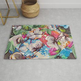 Cotton and more floral Rug