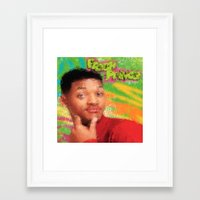 fresh prince Framed Art Prints featuring Will Smith - Fresh Prince by Alice Z.