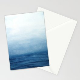 Seascape Watercolor Painting Stationery Cards