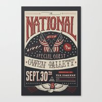 the national Canvas Prints featuring The National by Jon Contino