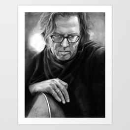 Eric Clapton PENCIL DRAWING Art Print
