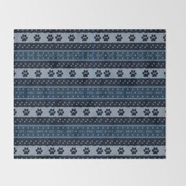 Pet Lover, Knitter, Artist. Blue. Throw Blanket
