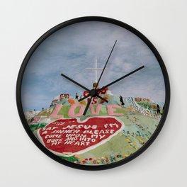 Salvation Mountain God Is Love Wall Clock