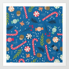 Christmas Candy Art Print