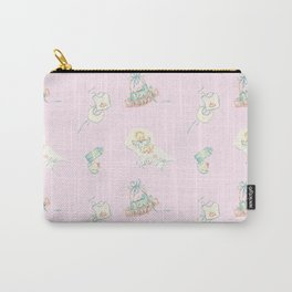 Vintage Baby Room Repeat in Light Pink Carry-All Pouch