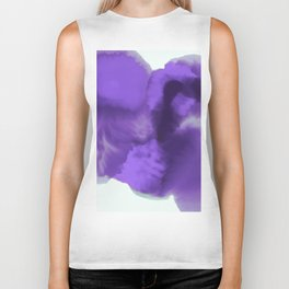 Abstract Watercolor Ultra Violet Biker Tank