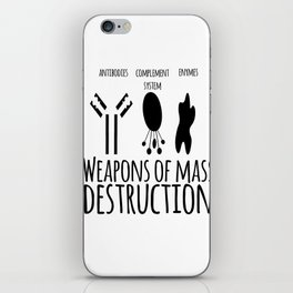 Weapons of mass destruction iPhone Skin