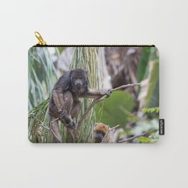 Pair of Howler Monkeys watching Carry-All Pouch