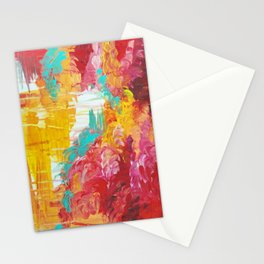 AUTUMN SKIES - Amazing Fall Colors Thunder Storm Rainy Sky Clouds Bold Colorful Abstract Painting Stationery Cards