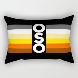 Oso / Bear Flag for LGBT pride or Bear Week Rectangular Pillow