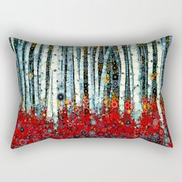 :: Begonia Birch :: Rectangular Pillow