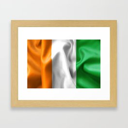 Ivory Coast Flag Framed Art Print