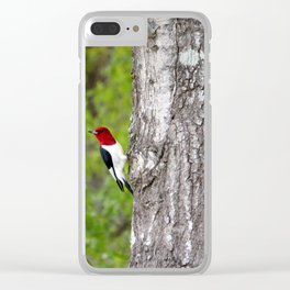 Red-headed Woodpecker Clear iPhone Case