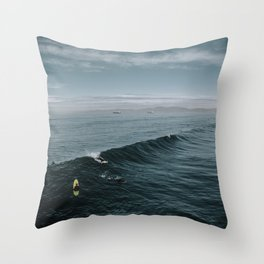 Summer Surf Session Throw Pillow