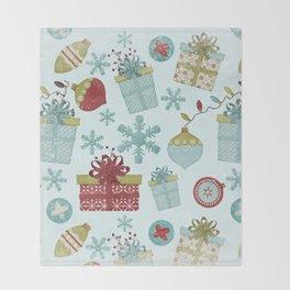 Merry Christmas-Festive gift and Christmas Bowls X-Mas Pattern Throw Blanket