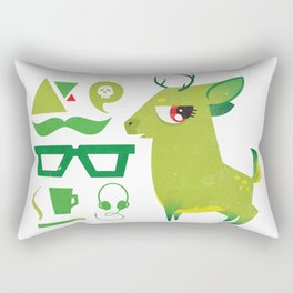 Hipsdeer (green) Rectangular Pillow