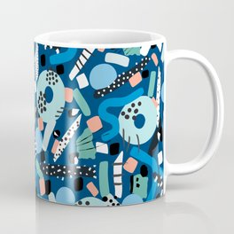 CIRCLES IN MOTION - GREEN/ BLUE brush stroke Coffee Mug