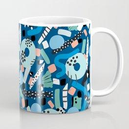 CIRCLES IN MOTION - GREEN/ BLUE brush stroke Coffee Mug